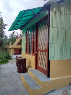 Bamboo Hut Front View