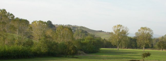 landscape of the river valley, just in front the property