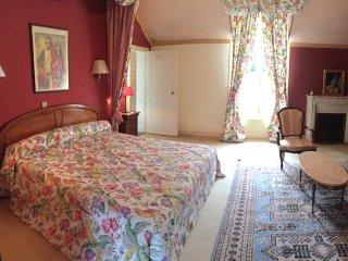 """Chambre """"Perroquets"""" Château de Montgoger, Saint-Epain"""