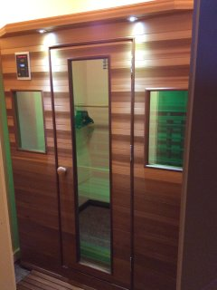 For your sore/aching muscles try out our infrared sauna in the master bath