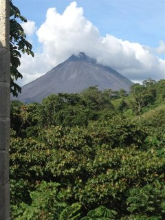Majestic Arenal from your driveway!