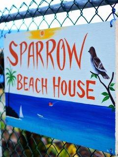 Sparrow Beach House Welcome Sign