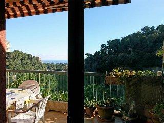 Terrasse vue sur la mer, 2kms du centre de Nice