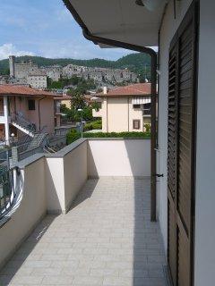 Balcone abitabile con panorama Castello Monaldeschi