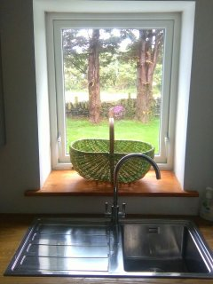 view from sink in Utility room