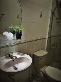 Clean bathroom with shower