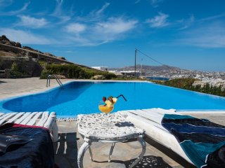 Beautiful 1-Bdrm house with Pool & Sea View-Ornos