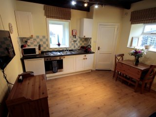 Open plan kitchen, well equipped for self-catering