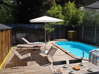 Montpellier lux villa with heated pool, aircon, design furniture