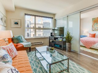 Modern and well-appointed Queen Anne condo w/ rooftop deck & gym - dogs OK!