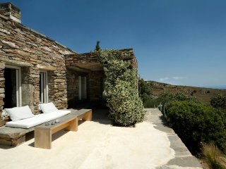 Architect's stone villa with amazing sea views, Korissia