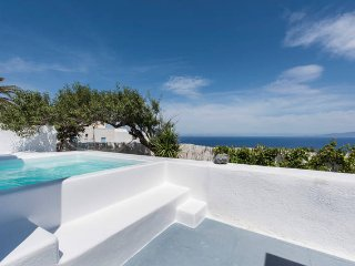 Captains blue traditional villa with pool, Oia