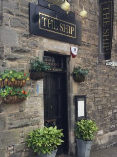Up The Nethergate to The Ship, a local bistro, serving excellent local dishes and wines.