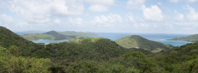 Beautiful View from the deck overlooking the Caribbean Sea and the British Virgin Islands