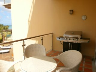 Balcony with amazing view and 4 seat table and BBQ!