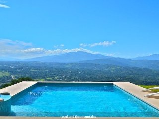 Pool with five mountain view and cold water jacuzzi