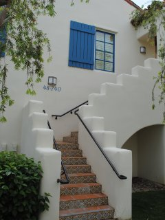 Stairs leading to the upstairs villa.