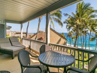 FREE mid-size car with Poipu Palms 302-Two bedroom Ocean Front