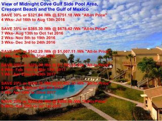Sun, Sand & *Save 20% to 35%* Midnight Cove #714, Sarasota