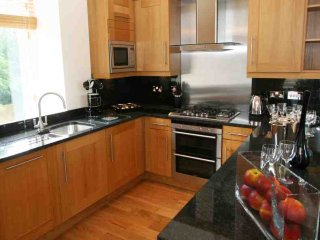 The fantastic modern kitchen is fully equipped for all your holiday needs