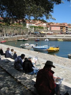 Artists at nearby Collioure