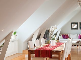 Amazing views of the modern loft, Vilnius
