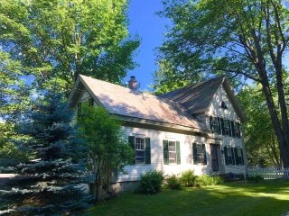 Classic Village Farmhouse with large yard & stream