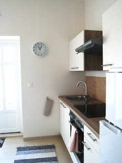 Kitchen in Apartment with 20m2 terrace