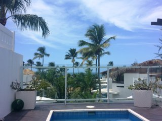 Large oceanview penthouse w/ rooftop dipping pool, Las Terrenas