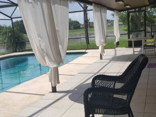 Beautiful. 3 bedroom. home. with. private. heated pool. near. Disney.