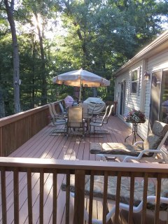 14 by 40 deck of main home plus another deck photo was taken form off master