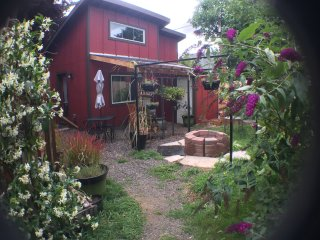 entrance to garden and your tiny home from pathway