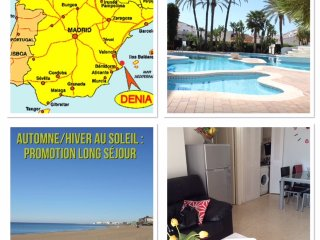 Appartement  à 80 m plage de sable - 2km Dénia, Denia