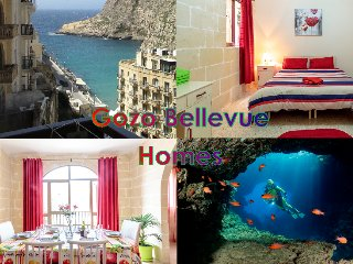 Seaview apartment for 6 free wifi, Xlendi