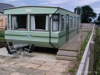 spring farm holiday caravan