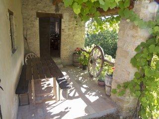 Veranda and front door to kitchen