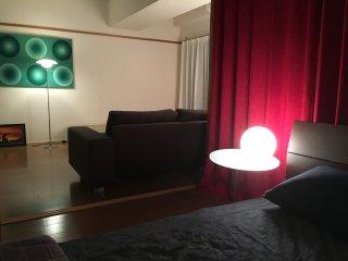Panorama view and wide modern room, Shinjuku