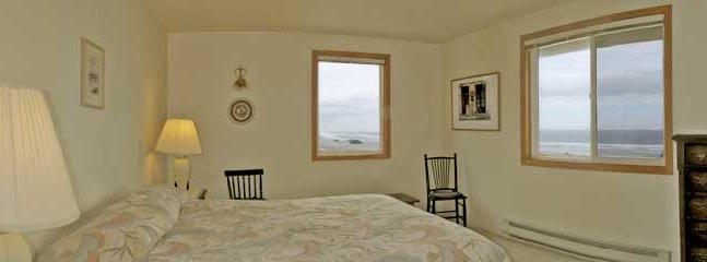 The south facing second floor queen bedroom with ocean views.