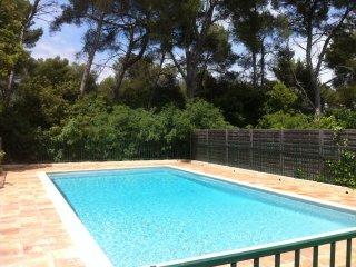 Maison au calme dans parc boise avec piscine