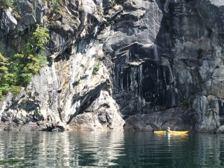Kayaking Kootenay Lake