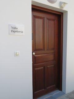Ingang villa Euphoria.