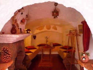 Maison troglodyte insolite a Guadix (Andalousie)