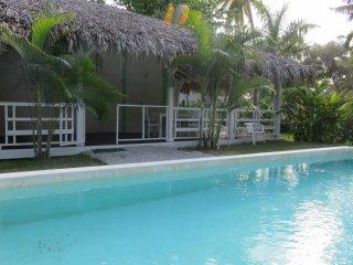 Caribbean Villa renovated 150m from the beach, Las Terrenas