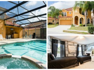 Watersong Saltwater Pool Villa / Sleeps 14 in Gated Resort, Davenport