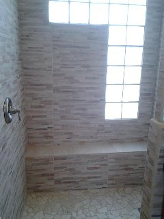 Guest house marble & Tile bathroom