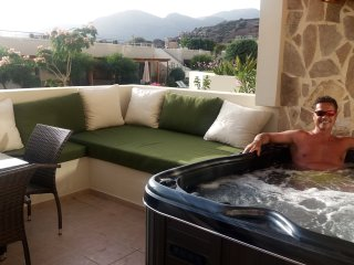 Private balcony with hottub