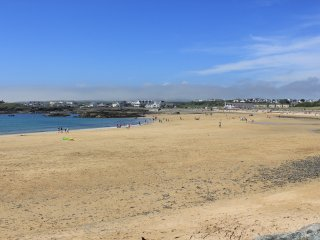 Main beach at Trearddur Bay, is just 5 minutes walk away.