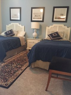 Guest Bedroom with a Full and Twin Bed.