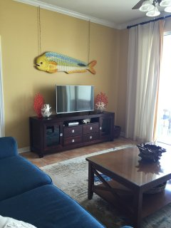 Large new TV for family fun!