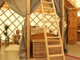 The Garlic Farm Middle Yurt